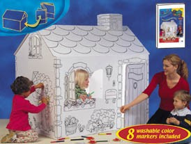 Kid\'s Cardboard Playhouse