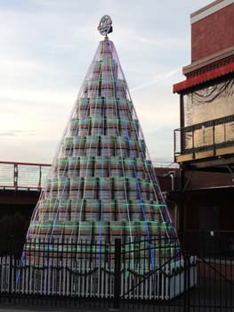 Christmas Beer Keg Tree